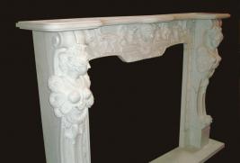Mantel B201 – White Marble (#64)