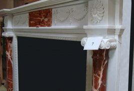 Mantle MF96571-White & Maroon Marble (#7)