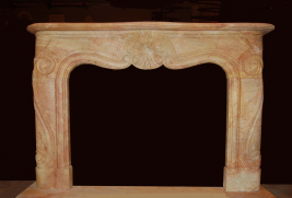 Mantel D803- Red Yellow Marble (#38)