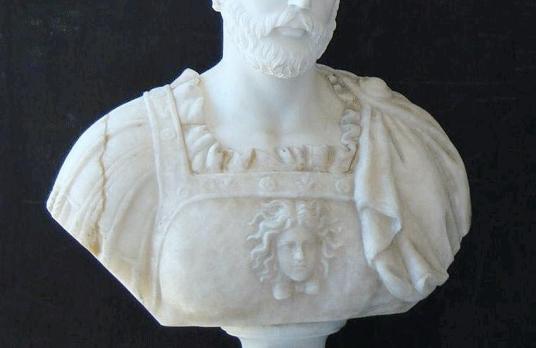 B469 –White Marble w/Onyx Dress Statue