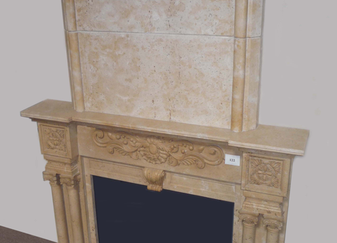 E666– Yellow Marble overmantel (#123)
