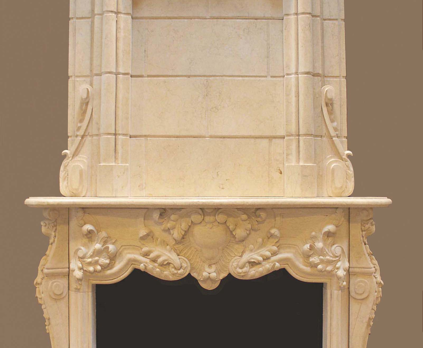E668- Egyptian Beige Overmantel (#127)