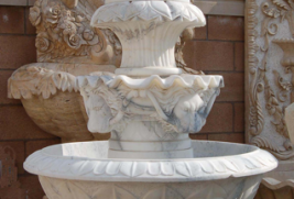 F0012 – White Marble Fountain