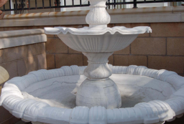 F0264 – White Marble Fountain