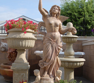 F301- Red/Brown Marble Fountain