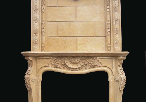 F7039- Yellow Marble Overmantel (#151)
