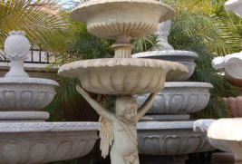 F800–Aluminum Tiered Angel Fountain – Ivory w/Gold