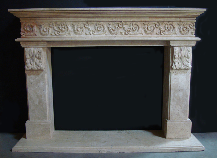 French-Country Fireplace Mantels in Los Angeles
