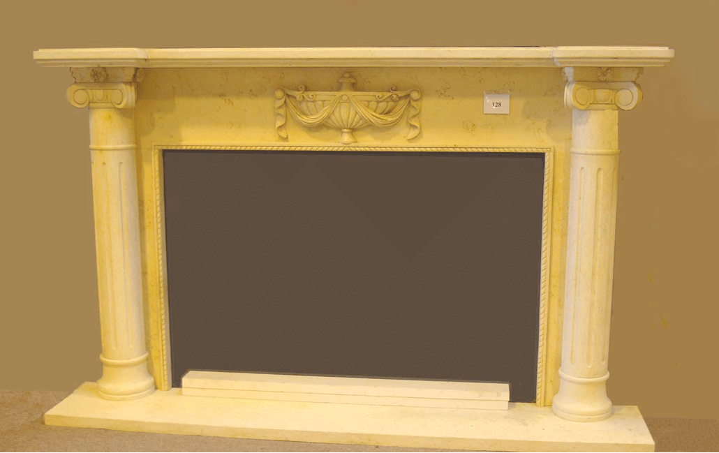 outlet store 0aa76 5155a Mantel D405- Egyptian Beige Marble (#128) - SoCal Fireplace ...