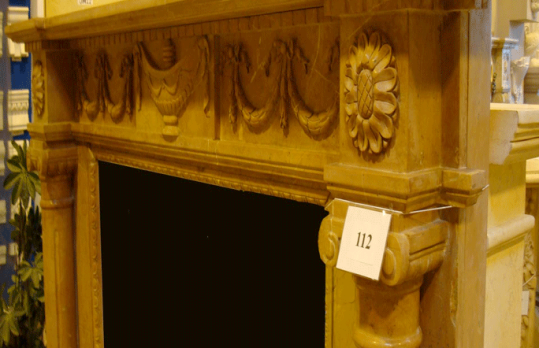 Mantel E502- Red Brown Marble (#112)