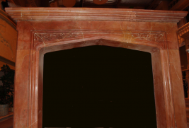 Mantel E503- Red Brown Marble (#114)