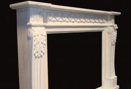 Mantel F8018– White Marble (#237)