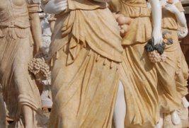 S452 – Statues: Egyptian Beige Dress (Set of 4)
