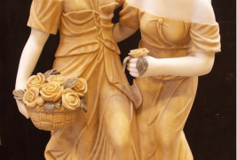 S709 – White w/Orange Dress Statue