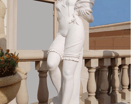 S893–White Marble Statue