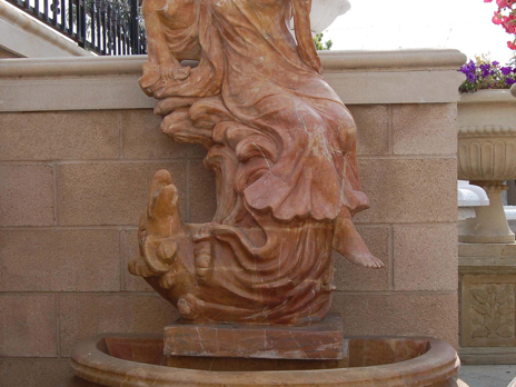 WF346 – Red/Brown Marble Fountain